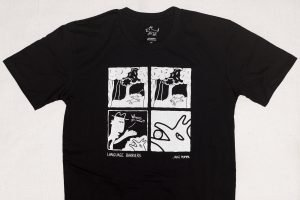 Black 'Language Barriers' t-shirt