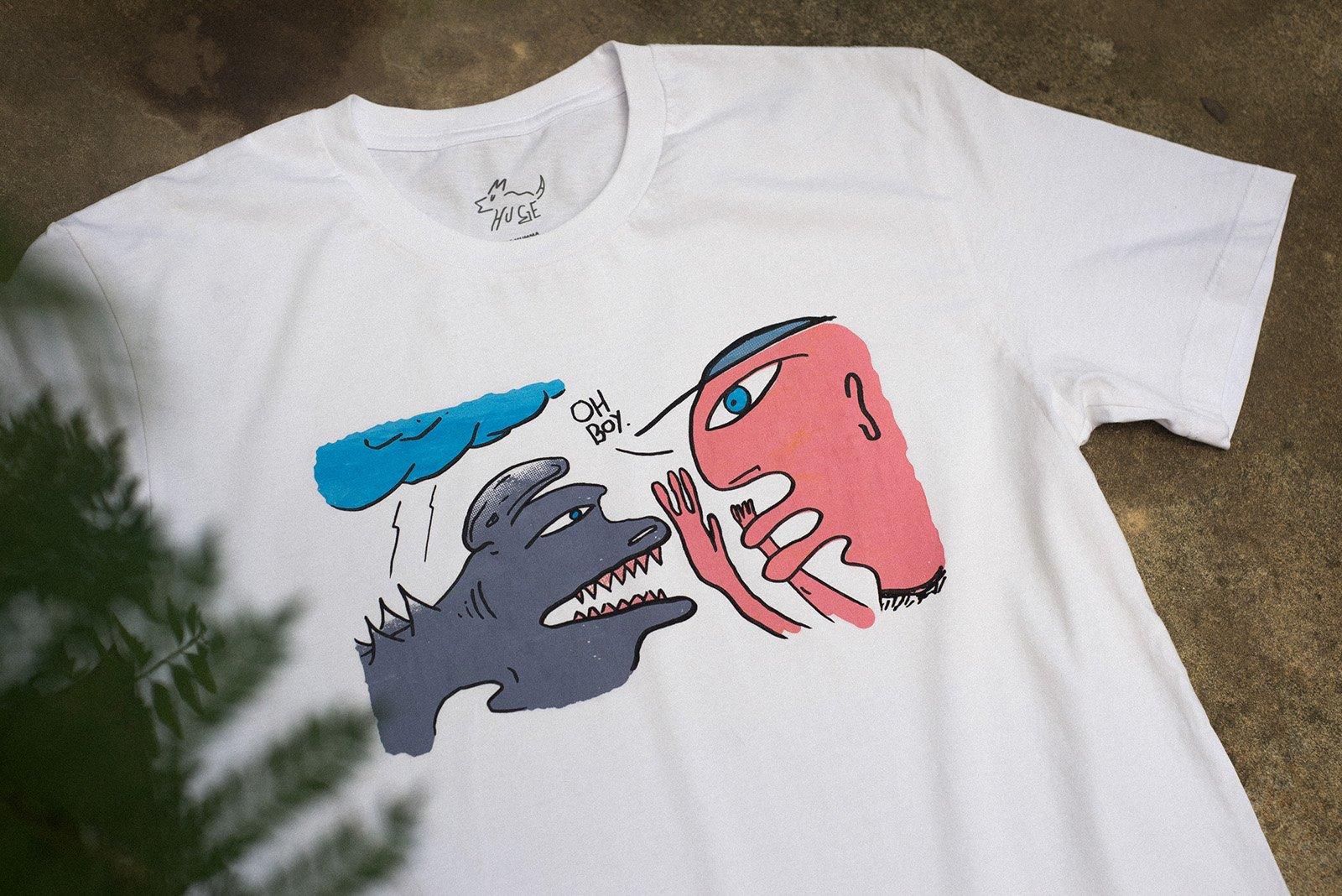 White 'Oh Boy' t-shirt