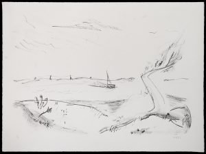 'Boat and Power Lines' print