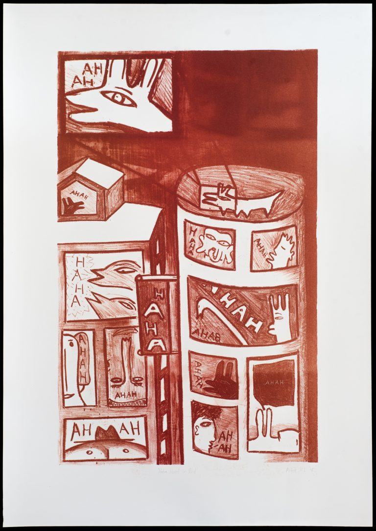 'Haha Hotel in Red' print