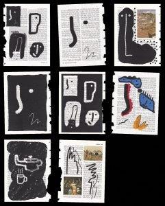 Prints on encyclopedia paper